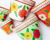 "Flower Pot Hand Painted 8 Inch Terracotta Pot  ""Fiesta""  Made to Order"