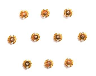 Gold Bindi, Coachella, Art Jewelry