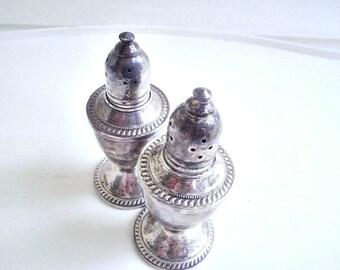 Shabby Silver Salt and Pepper Shaker Set