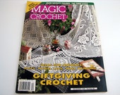 Vintage MAGIC CROCHET Pattern Booklet - Dec. 1995 - # 99 - doilies - table runners - table cloths - and more
