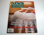MAGIC CROCHET Pattern book - Feb. 1997 - # 106 - Cardigan - Patchwork - Doilies - Fine Art Projects and More
