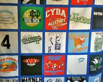 T-Shirt Quilt 25 Shirt T-Shirt Memory Keepsake Quilt Blanket