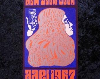 Grateful Dead New Years Concert Postcard BG 37 Orig Psychedelic Concert Flier San Francisco 1966
