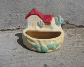 fredricksburgh art pottery planter desert theme southwestern western rustic