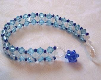 Bracelet Right Angle Weave Swarovski Crystals