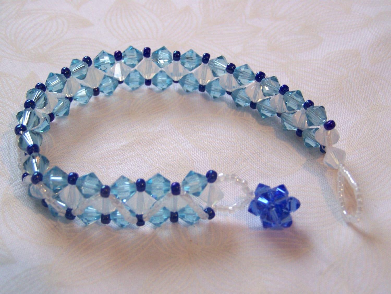Right Angle Crystal : Bracelet right angle weave swarovski crystals