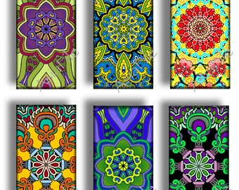 Printable -  1X2 Inch Digital Printable Images 24 Different Mandalas for Pendants Scrapbooking Paper Craft Instant Download CS 435