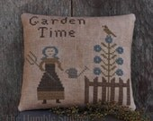 Garden Time...Primitive Cross Stitch Pattern By The Humble Stitcher