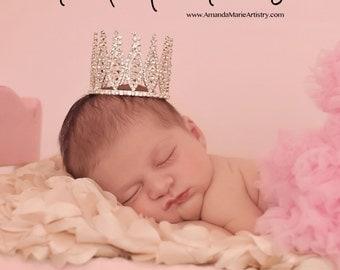 Newborn Rhinestone Crown Tiara Photo Prop #4