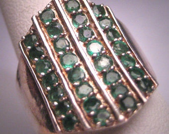 Vintage Emerald Ring Estate Gemstones Designer Signed