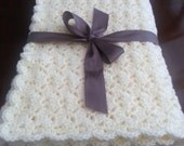 Crochet Shell Baby Blanket - Crochet Baby Boy Girl Blanket Afghan - Crochet Baby Blanket - Stroller Crib Blanket