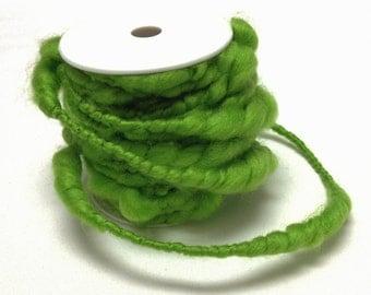 Craft Supplies - 32 Feet LIME GREEN Wired Yarn - Yarn Rope, Fairy Hair