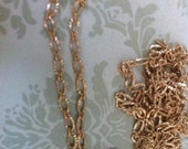 Vintage Retro Style Delicate Matte Gold plated crinkled texture 3x5mm footage chain