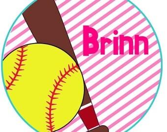 Softball/Baseball for Girls Iron on