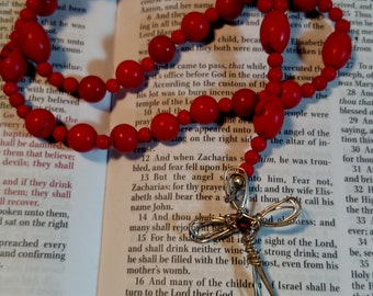 R142 Anglican Rosary Protestant Prayer Beads Gemstone