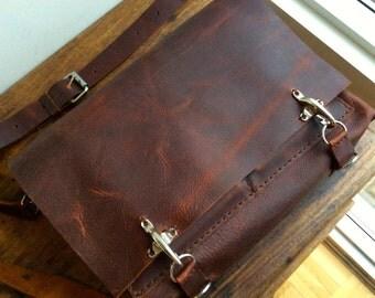 Leather messenger bag, Laptop satchel,  Leather courier bag,  Laptop briefcase, Leather laptop messenger bag, Computer satchel, Handstitched