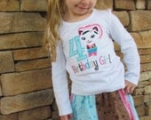 A Complete Outfit - Girls Shirt or Bodysuit with Skirt SET - Sheriff Callie Birthday Outfit