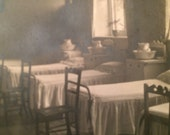 Real Photo Postcard by Harry Seymour Cousens of St Leonard's Convent - Interior - Dormitory