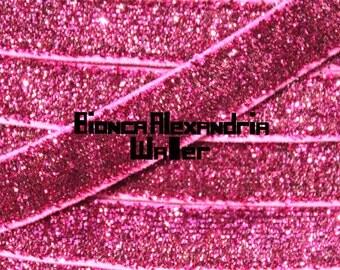 Pink Glitter Elastic. 3/8 inch Glitter Elastic Yard. Glitter Elastics. Red Glitter Elastic.