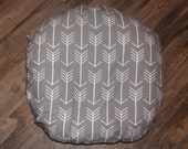 Arrows Boppy Lounger cover- Ships Today- with gray bottom, slipcover for boppy lounger