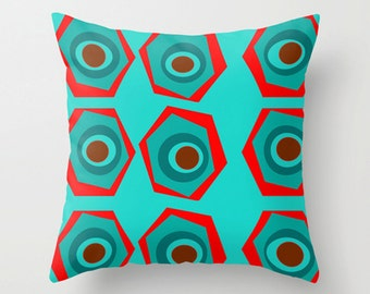 Red & Blue Throw Pillow
