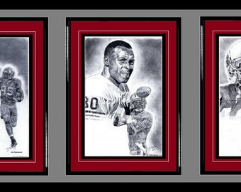 San Francisco 49ers ART- Vernon Davis, Jerry Rice & Ronnie Lott