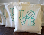 10+ LOVE Custom Canvas Wedding Tote Bags - Eco-Friendly Natural Cotton Canvas