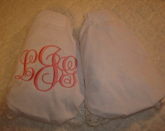 2 Pair Diaper Cover Bloomers-1 Personalized 1 Blank