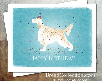 English Setter Birthday Card from the Breed Collection - Digital Download Printable