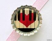 Piano Bottle Cap Magnet - piano magnet, fridge magnet, piano gifts,  piano teacher gift, music teacher gift, for music lover, music magnets