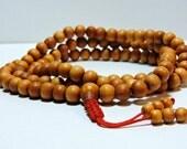 Tibetan mala Wood bead mala 108 beads for meditation