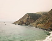 "California Photography - Foggy Landscape - Pacific Coast Highway - West Coast - Big Sur - Nautical Beach Decor - ""Big Creek Bridge"""