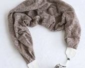 scarf camera strap - latte lace