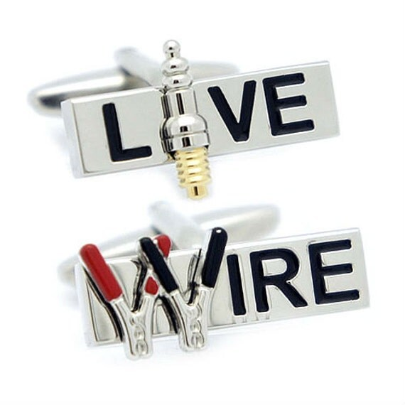 Jumper Cables Spark : Live wire jumper cable spark plug cufflinks