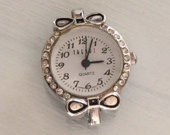 Bow Watch Face with embedded Crystals