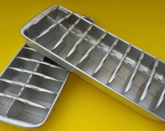 Vintage metal ice cube tray