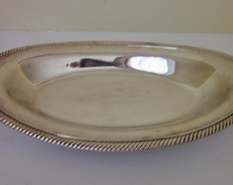 Vintage Silverplate Platter, Oval, Wm. Rogers, Cottage Chic, Wedding