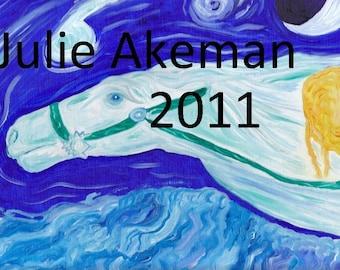 Blue Children's Wall Art  Dreamchaser