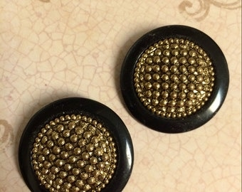 Vintage Black and Gold Buttons (2)