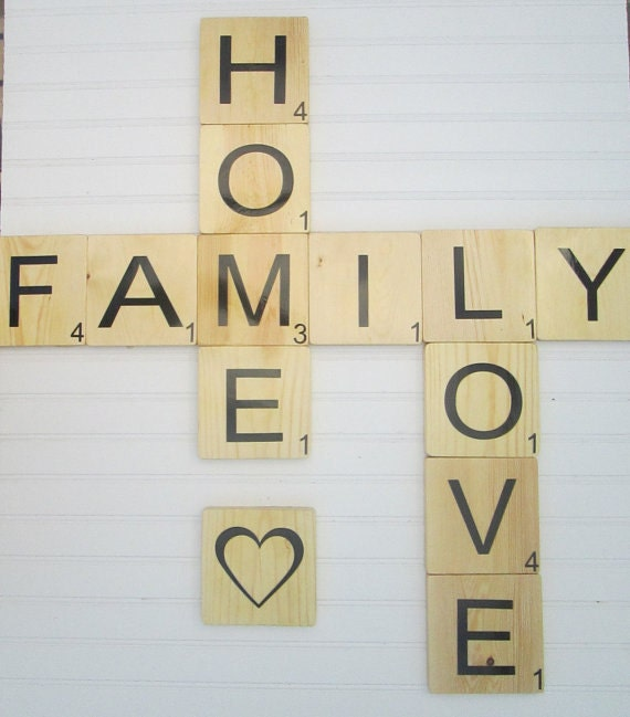 Large scrabble tiles scrabble wall art 55 large game for Large scrabble letters wall decor