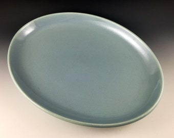 Russel Wright Iroquois Casual serving platter in early powder blue