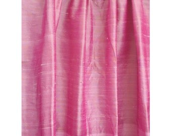 Light Pink 100 Percent Pure Silk Dupioni Grommet Blackout Lined Curtain Decor Housewares Window Treatment Drapes Panel Home Decor