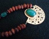 GREEN AGATE-COPPER-Necklace