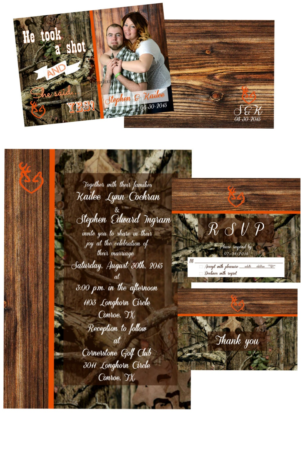 mossy oak new up wedding invitations - 100 images - camouflage ...