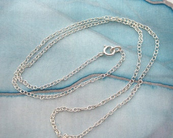 Sterling Silver Chain Necklace Made to Order