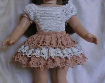 AG 232 Clogging Outfit  Crochet Pattern for American girl dolls