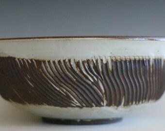Pottery Bowl, Large Handmade Ceramic Bowl, wheel thrown bowl, stoneware bowl, ceramic serving bowl