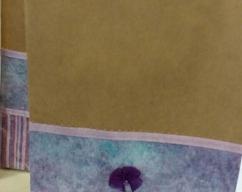 Lavender Striped Gift Bag Too