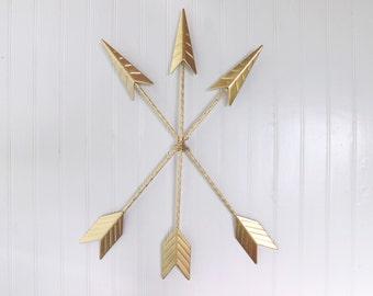 Arrow Wall Decor,Arrow Decor,Arrow Gifts,Arrow Wall Hanging,Metal Wall Decor,Gold,Arrow Nursery Decor