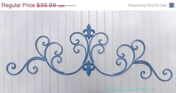SPRING SALE Spa Blue /Fleur De Lis Wall Decor / By